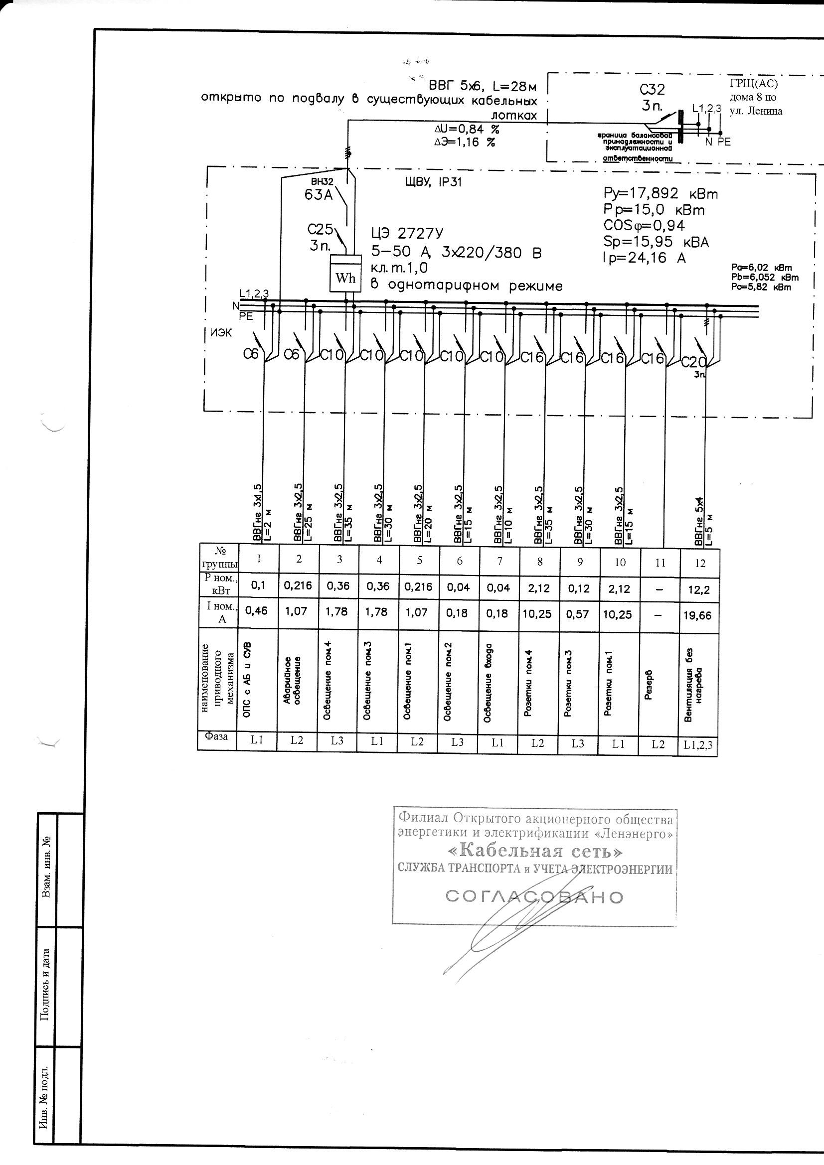 типовые однолинейные схемы электроснабжения